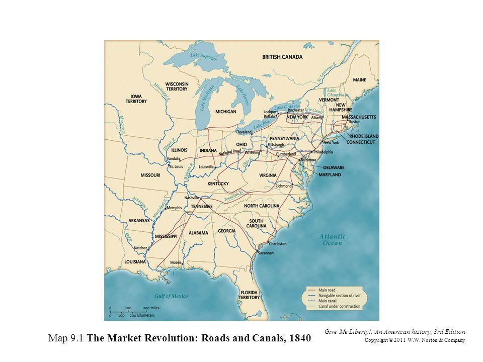 the market revolution in american history Analyze the impact of the market revolution (1815–1860) on the economies of   american system of manufacturing: low-cost, standardized mass production,.