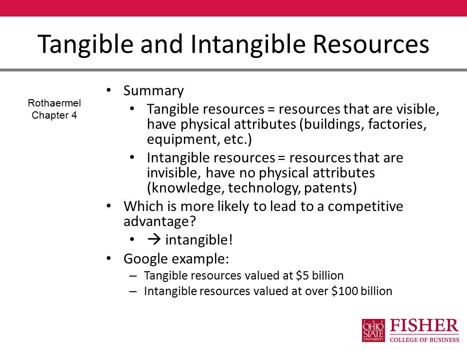 google s resources and capabilities A capability is the ability of a resource to perform a given activity relevant to production and the scheduling of resources for production.