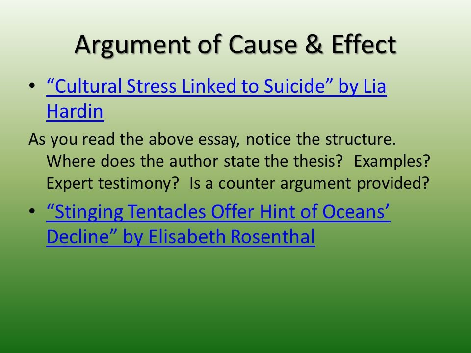 stress cause and effect essay