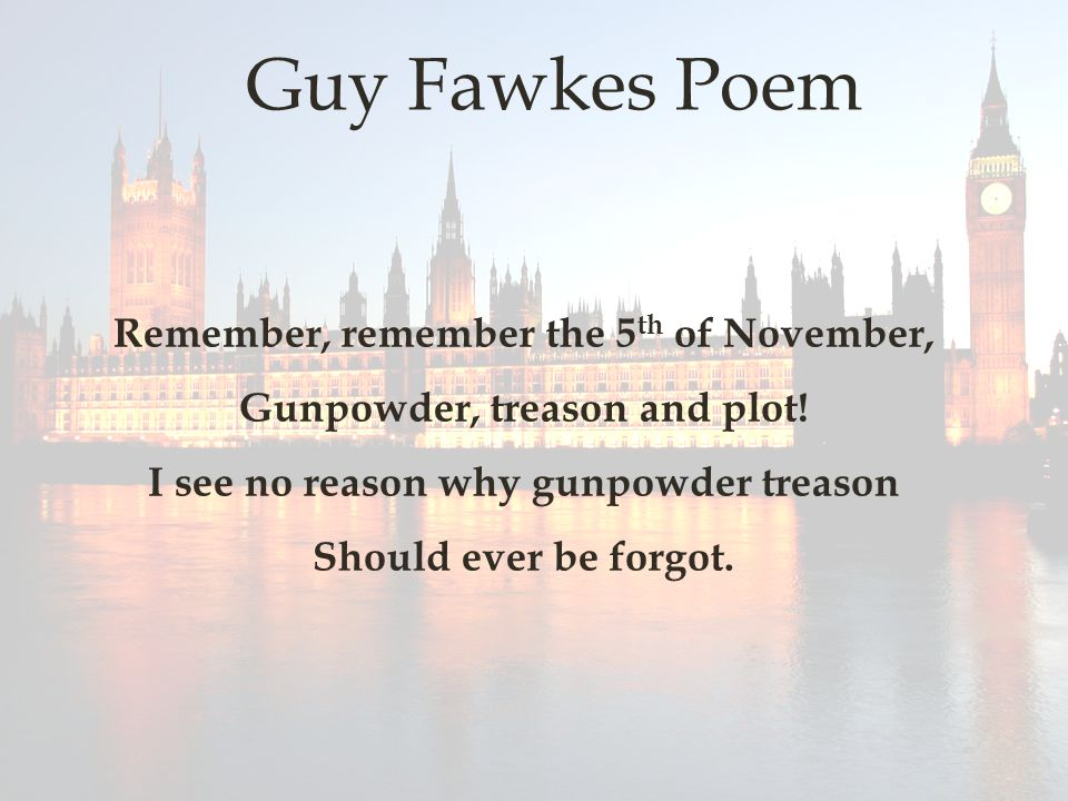 guy fawkes night and modernist poem There aren't exactly seasonal wishes for bonfire night, but there are a couple of poems associated guy fawkes, guy fawkes, t'was the sun website is regulated.