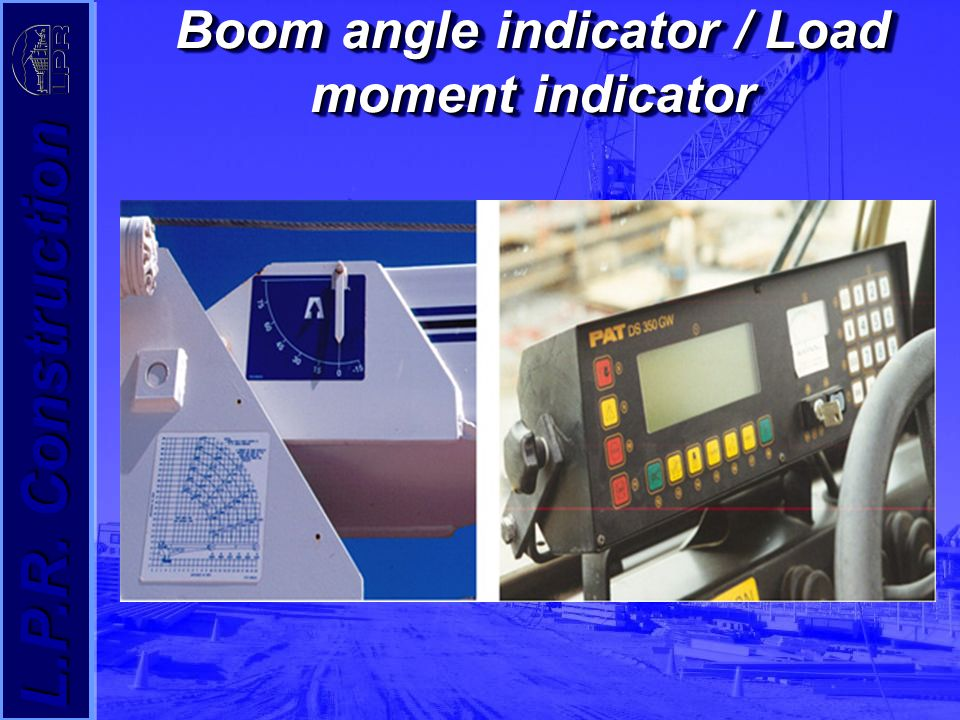 Load Moment Indicators For Cranes : Crane safety standards ppt video online download