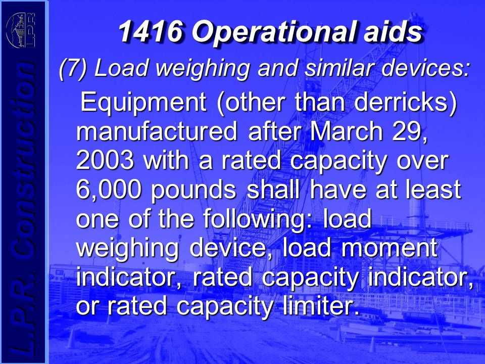 Load Indicator Rated Capacity Indicator : Crane safety standards ppt video online download