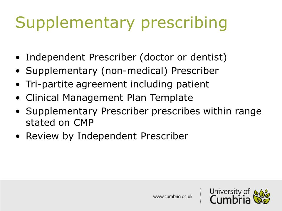 independant supplementary prescribing A pharmacist independent prescriber may prescribe autonomously for any condition within their clinical competence  in independent prescribing, making you eligible .