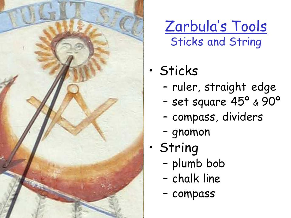 Zarbula's Tools Sticks and String