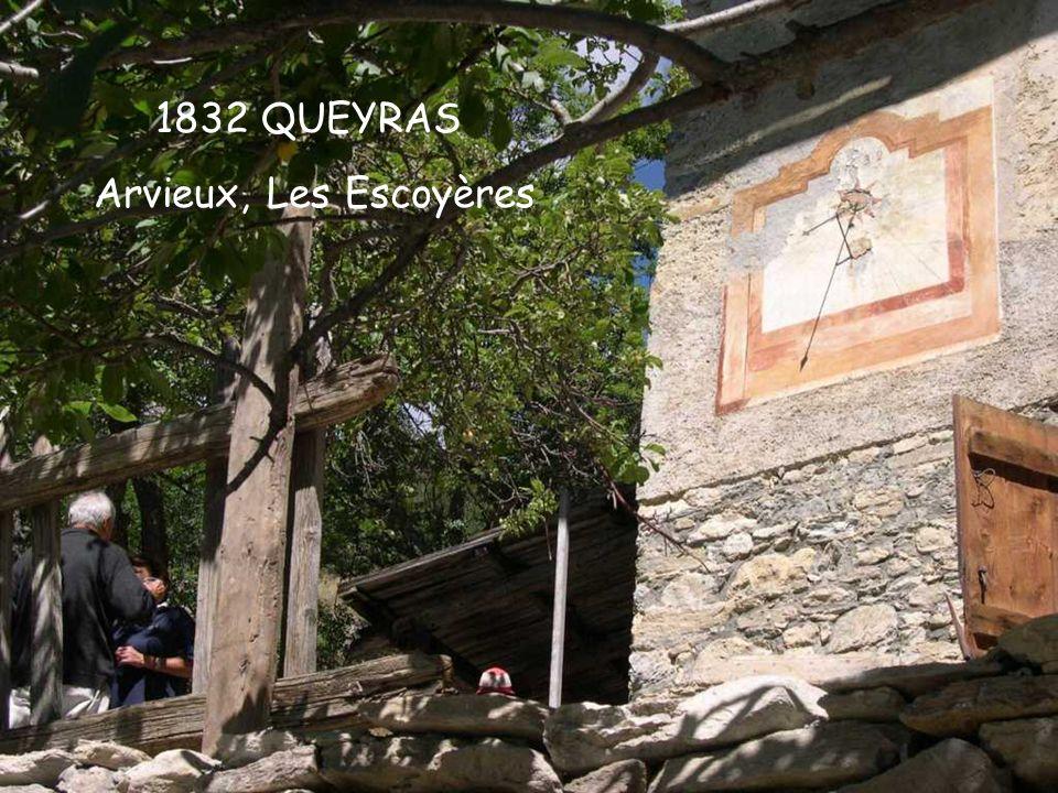 1832 QUEYRAS Arvieux, Les Escoyères