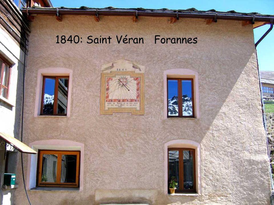 1840: Saint Véran Forannes