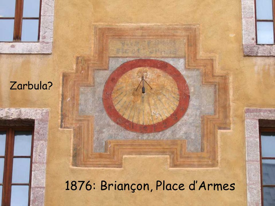 Most Zarbula sundials are in the surrounding alpine villages