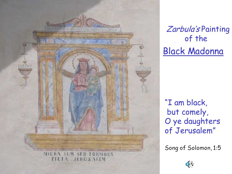 Black Madonna Zarbula's Painting of the I am black,