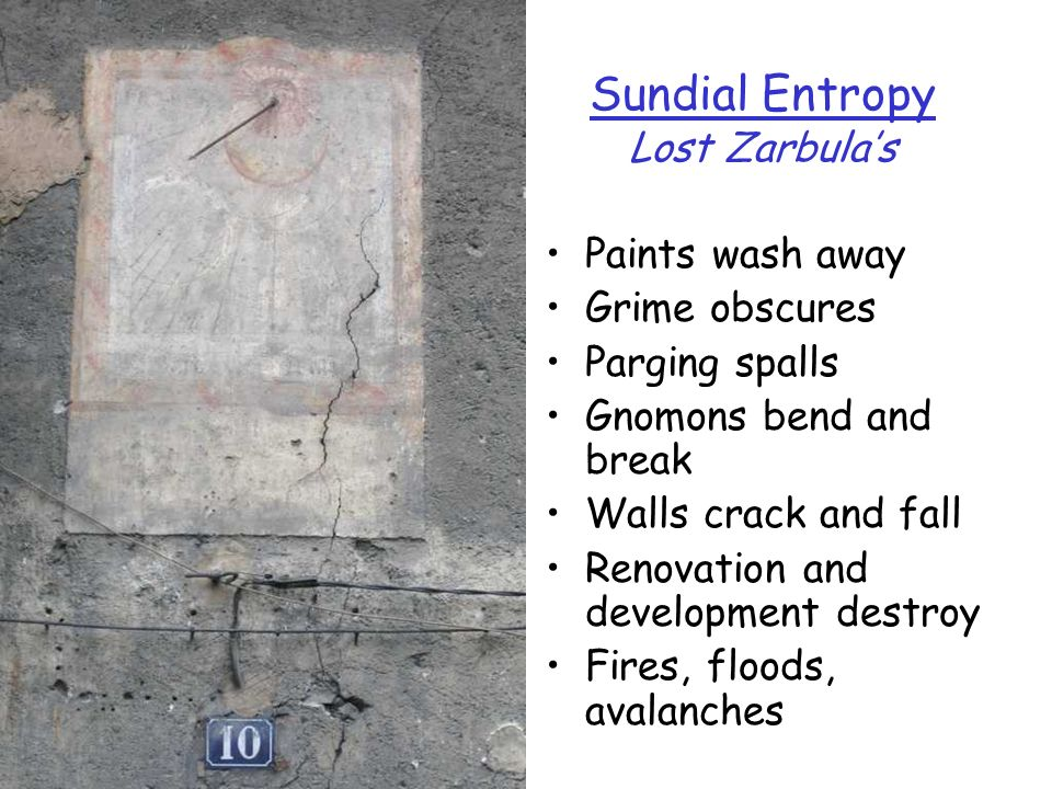 Sundial Entropy Lost Zarbula's
