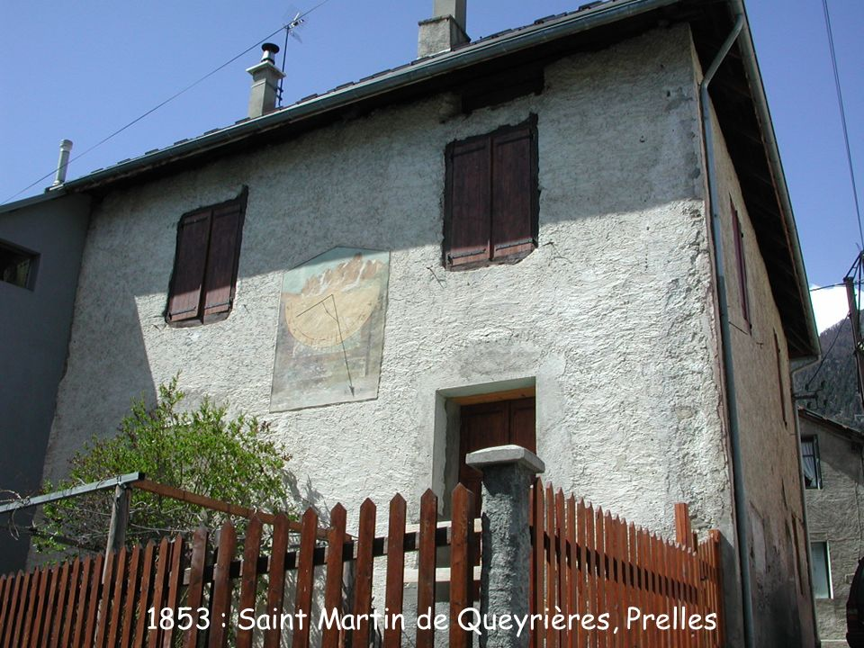 1853 : Saint Martin de Queyrières, Prelles