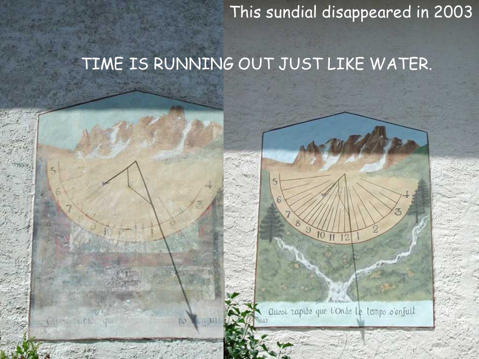 This sundial disappeared in 2003