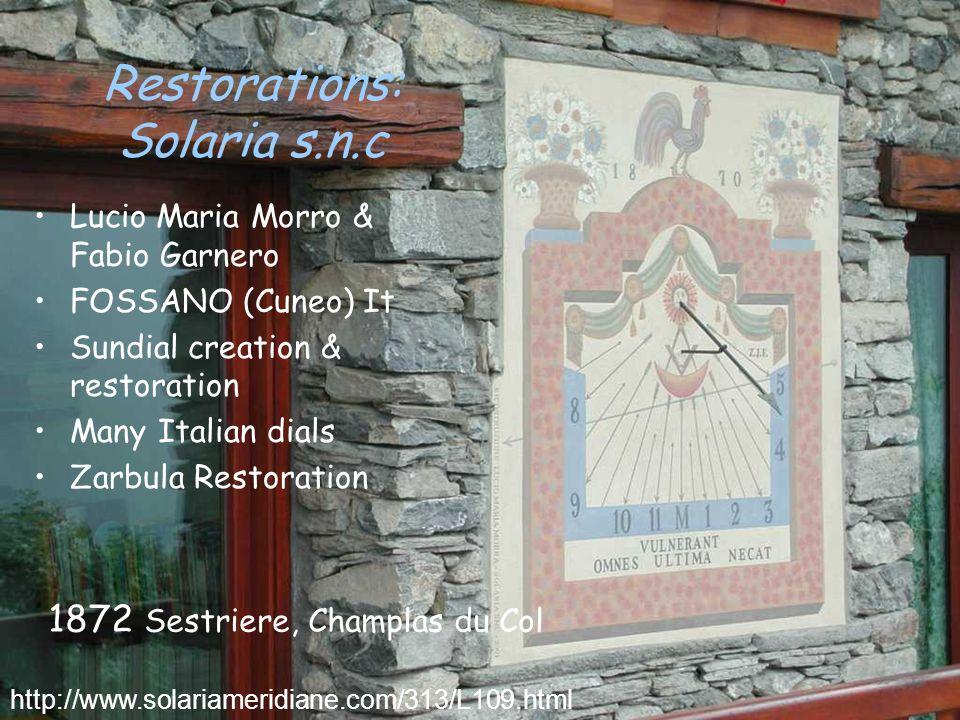 Restorations: Solaria s.n.c