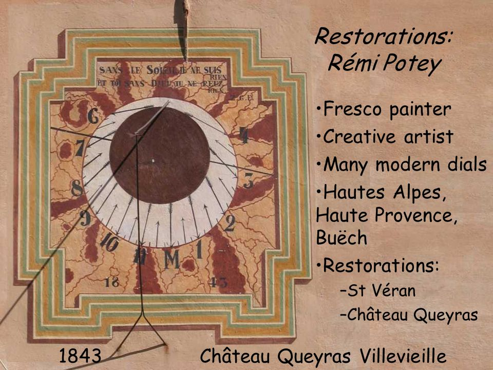 Restorations: Rémi Potey Fresco painter Creative artist