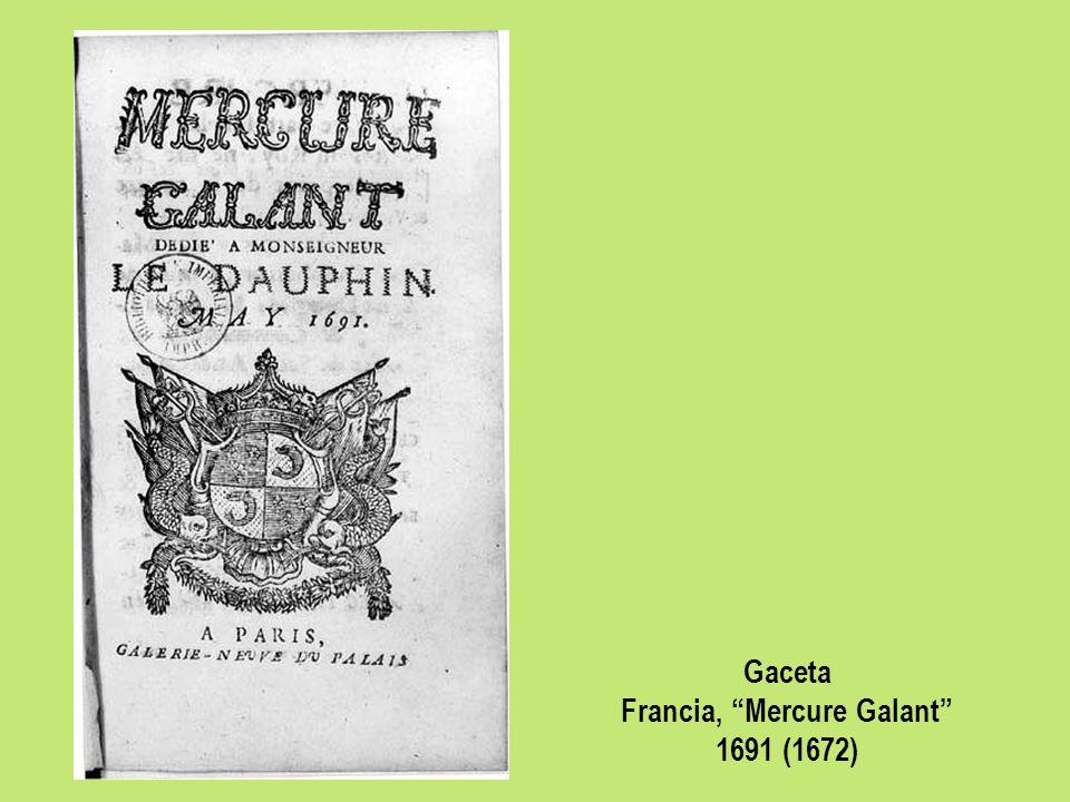 Francia, Mercure Galant