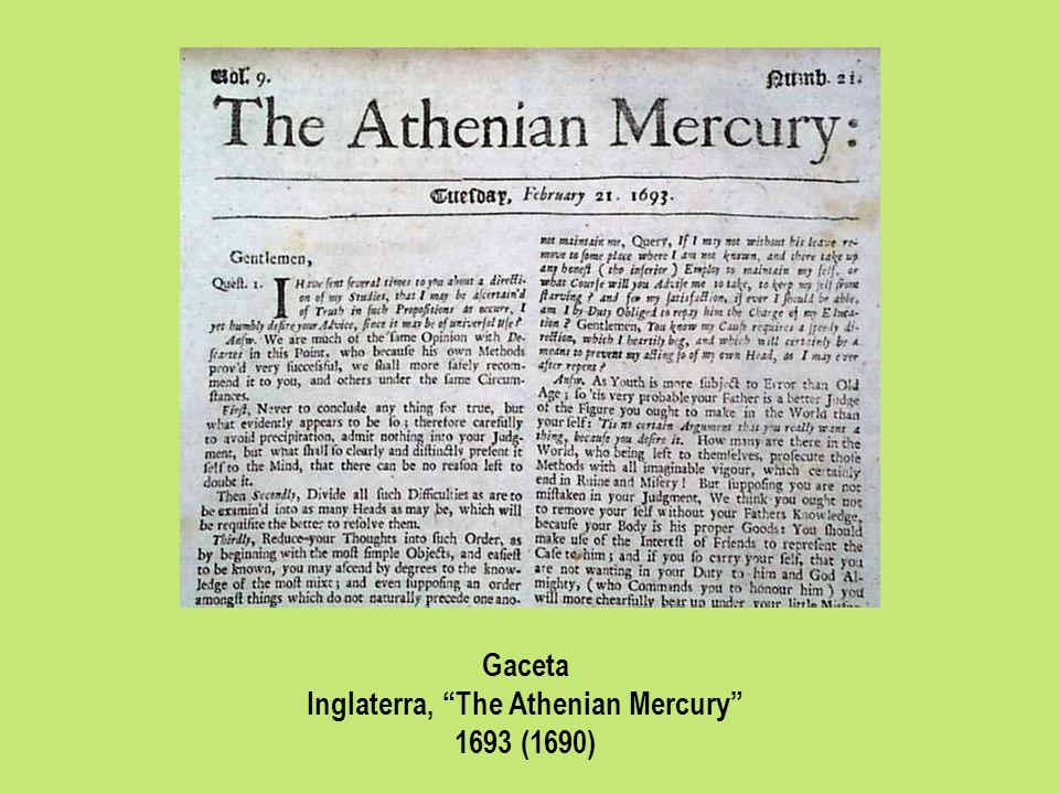 Inglaterra, The Athenian Mercury