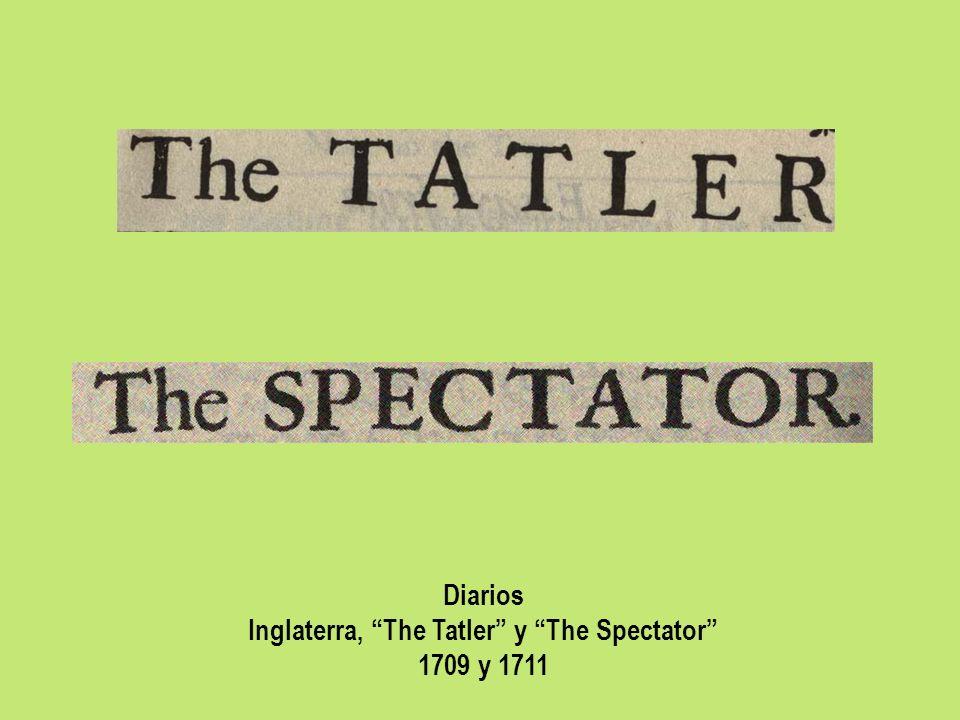 Inglaterra, The Tatler y The Spectator