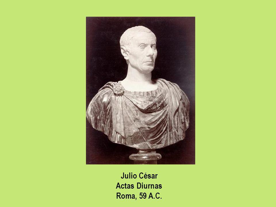 Julio César Actas Diurnas Roma, 59 A.C.