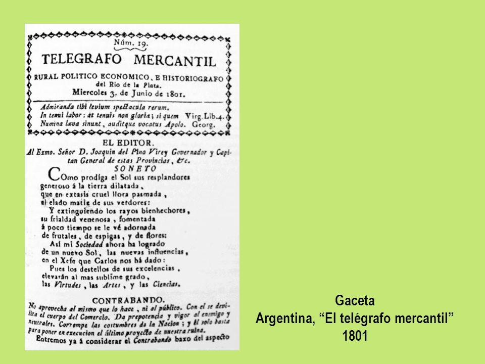 Argentina, El telégrafo mercantil