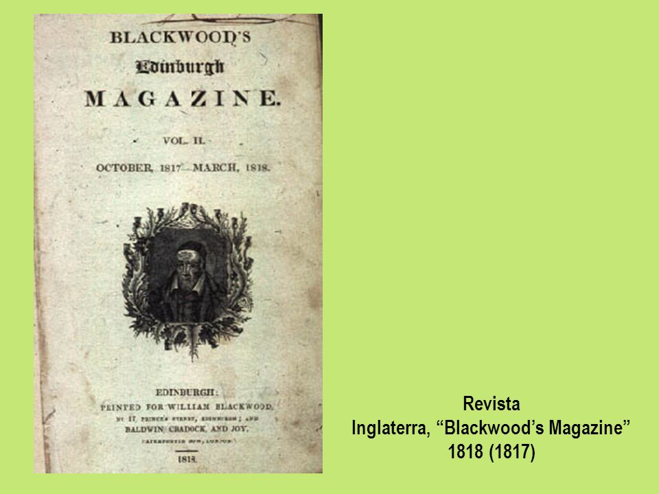 Inglaterra, Blackwood's Magazine