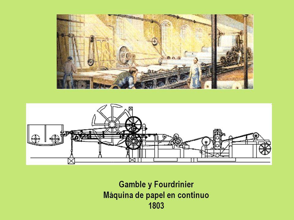 Máquina de papel en continuo