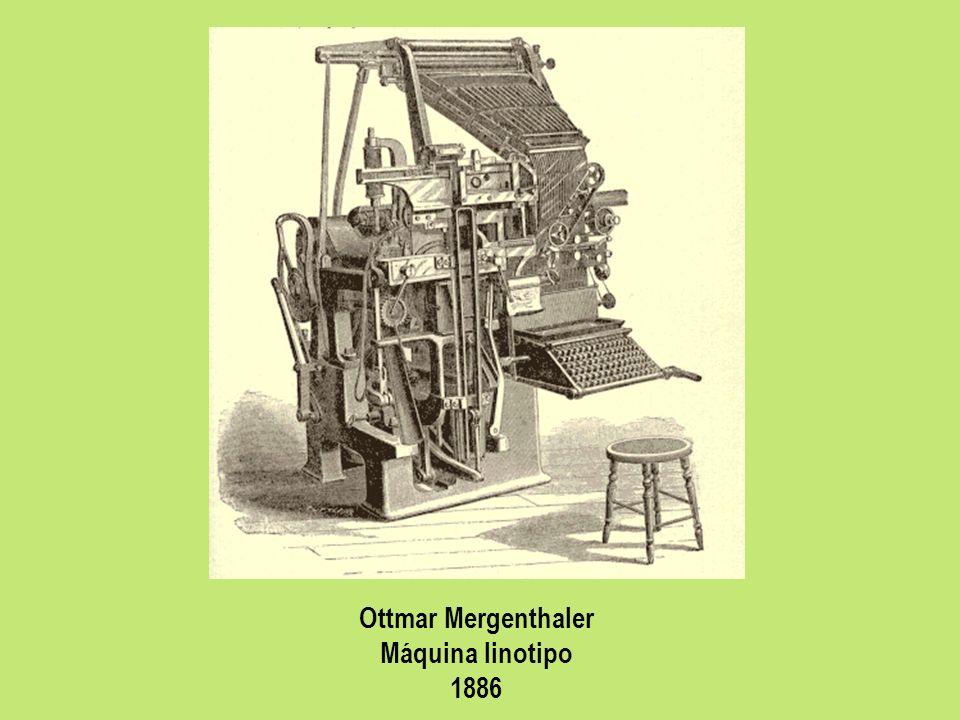 Ottmar Mergenthaler Máquina linotipo 1886