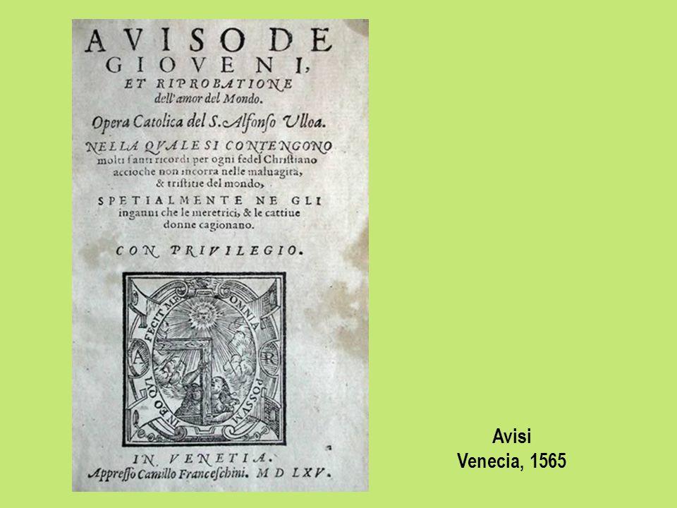 Avisi Venecia, 1565