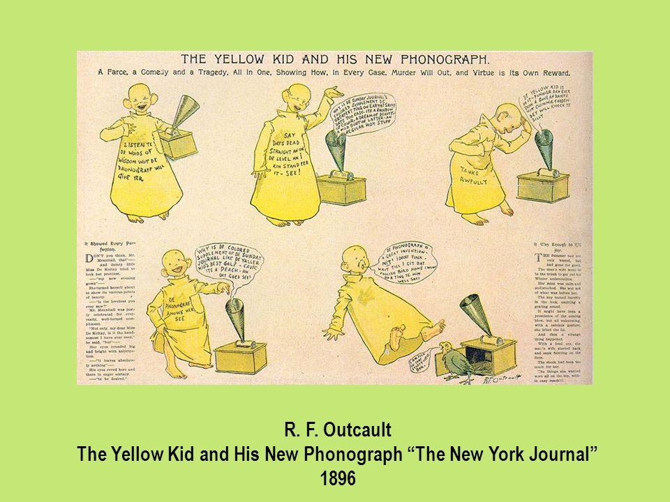 The Yellow Kid and His New Phonograph The New York Journal
