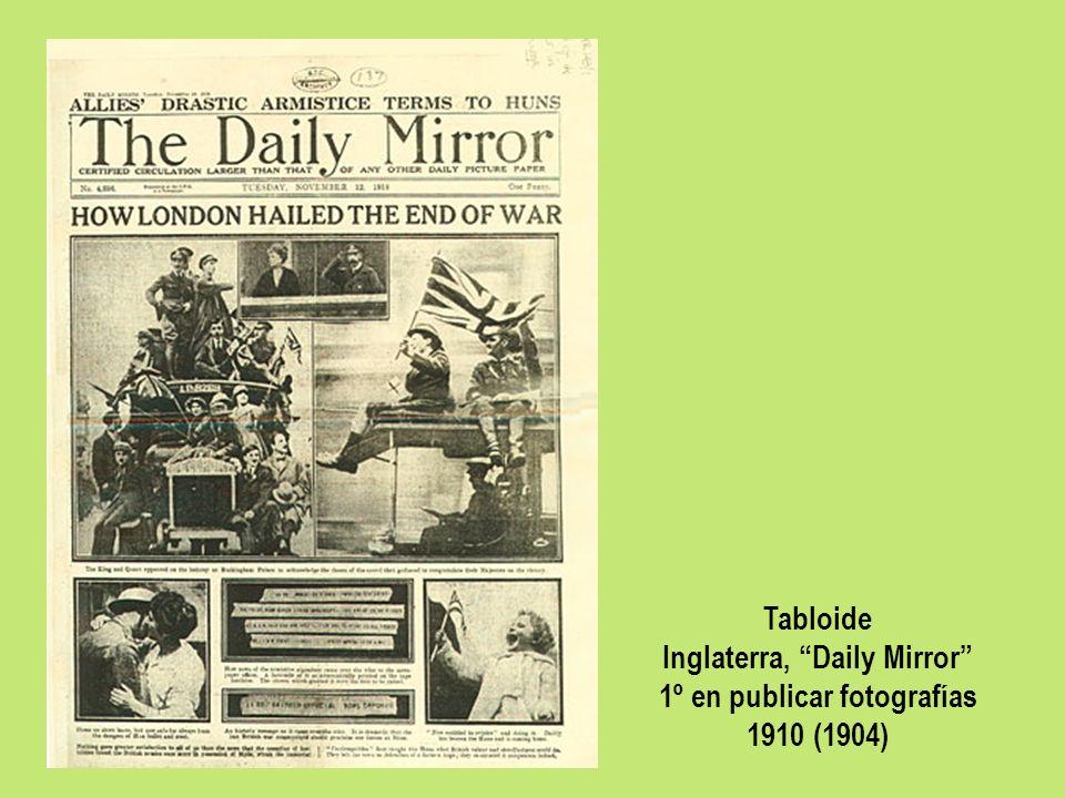 Inglaterra, Daily Mirror 1º en publicar fotografías