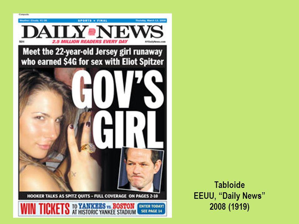 Tabloide EEUU, Daily News 2008 (1919)