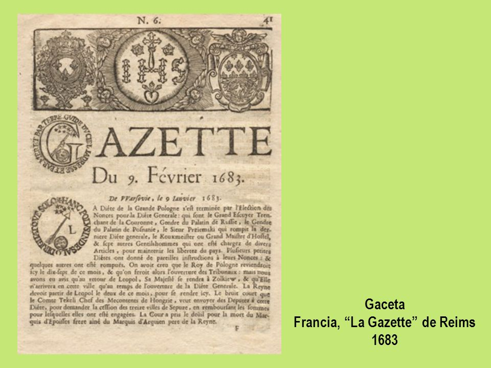 Francia, La Gazette de Reims