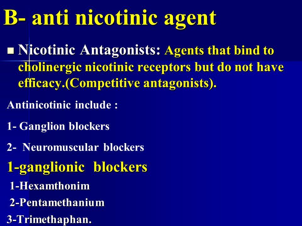 Cholinergic Antagonists Anticholinergic Cholinergic