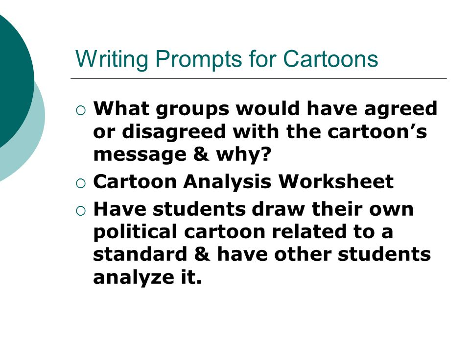 cartoon writing prompts Daily writing prompts - creative writing prompts for may we provide events that are related to each day you will find holidays, historical events, birthdays and other interesting and educational prompts to write about.