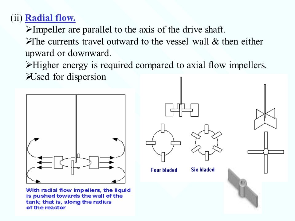 Axial Flow Impeller : Fluid flow for chemical engineering ppt video online