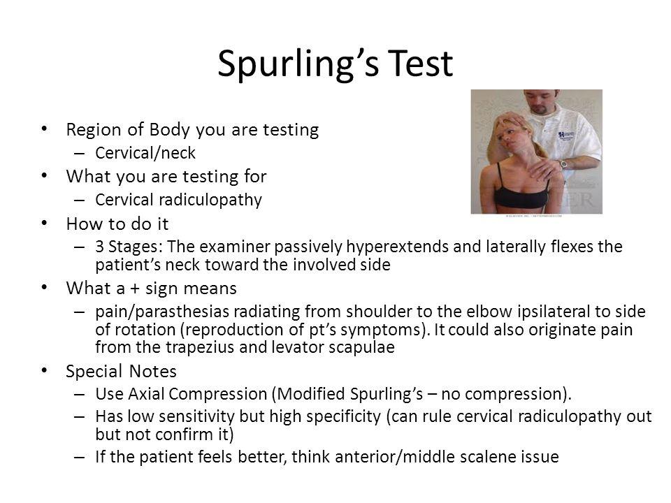 Spurling Test Image Mag