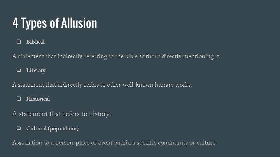 Allusion Literary Example