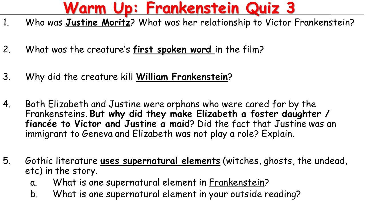Todays Activities Warm Up Frankenstein Quiz 3 Lesson Allusion – Allusion Worksheet