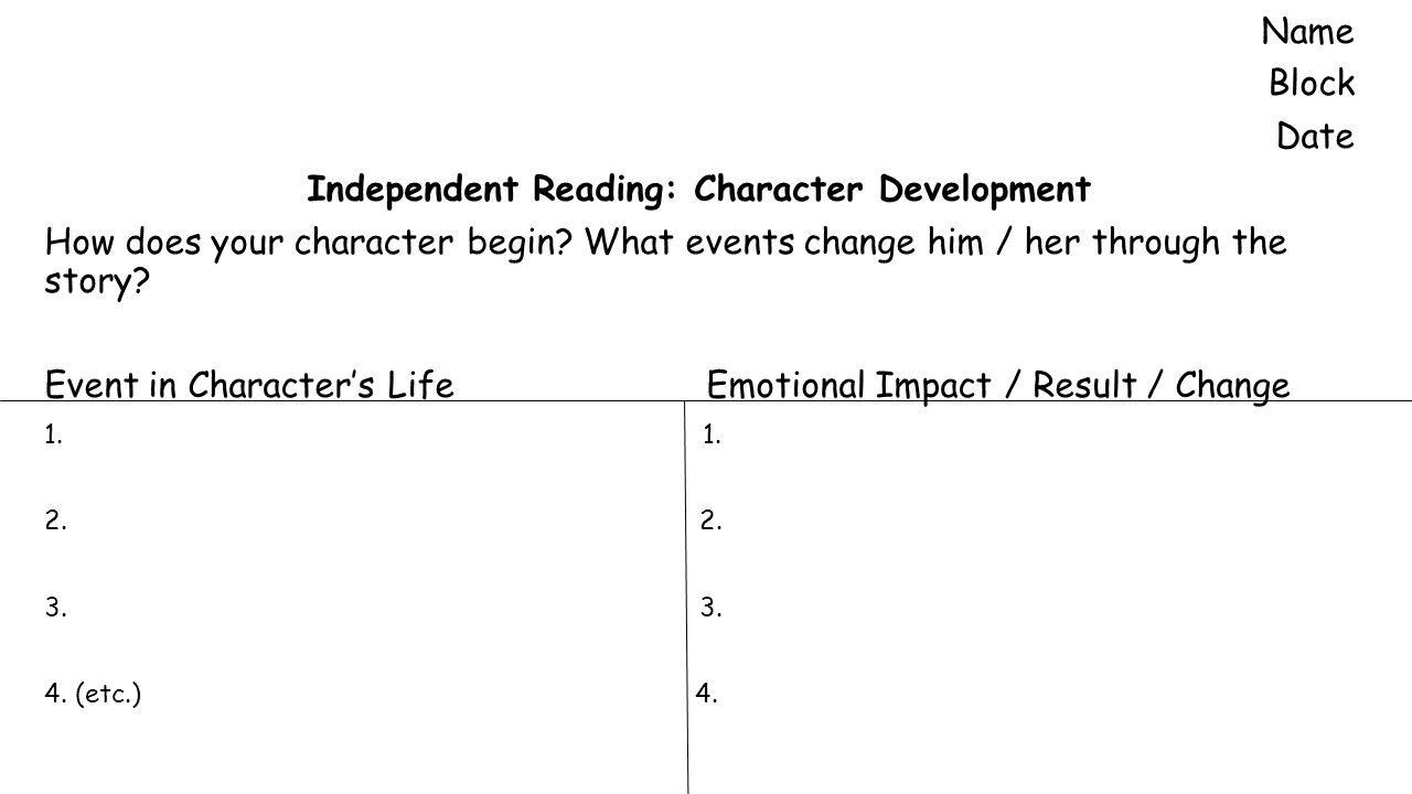 research paper over hemingways character development