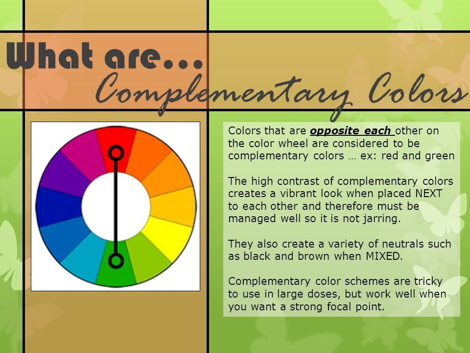 Red Complementary Color Scheme color theory with johannes itten. - ppt video online download