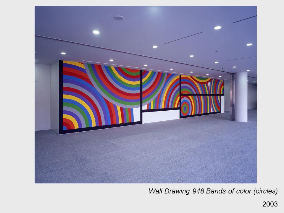 Wall Drawing 948 Bands of color (circles)