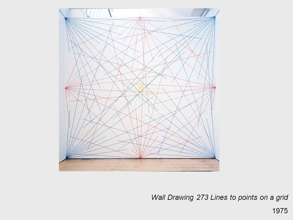 Wall Drawing 273 Lines to points on a grid