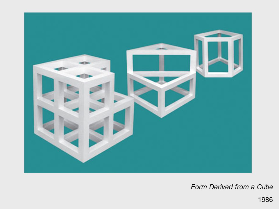 Form Derived from a Cube