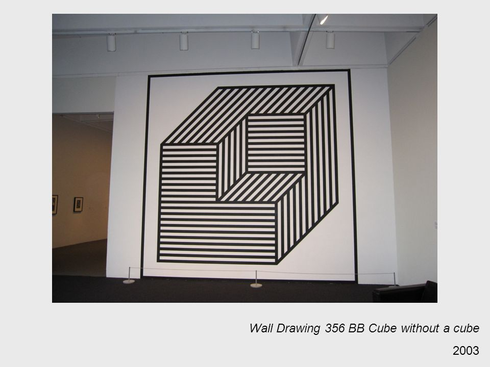 Wall Drawing 356 BB Cube without a cube