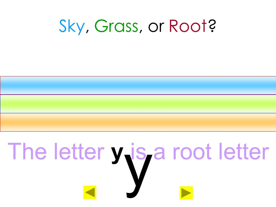 The letter y is a root letter