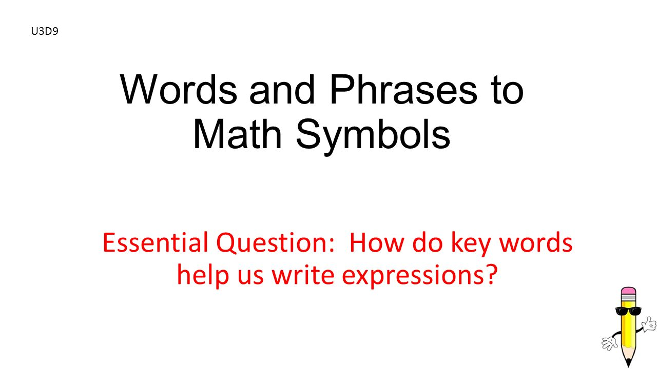 Words and phrases to math symbols ppt video online download words and phrases to math symbols buycottarizona