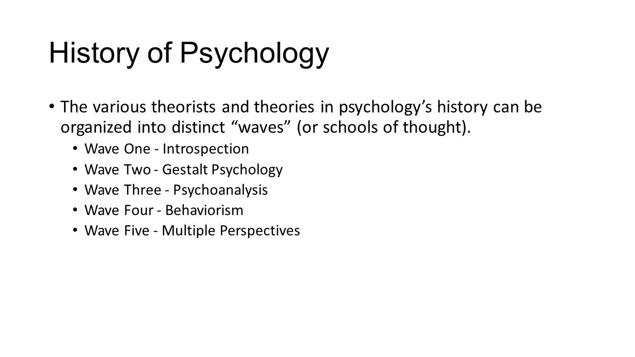 Introduction to the perspectives of psychology ppt download history of psychology the various theorists and theories in psychologys history can be organized into distinct buycottarizona Choice Image