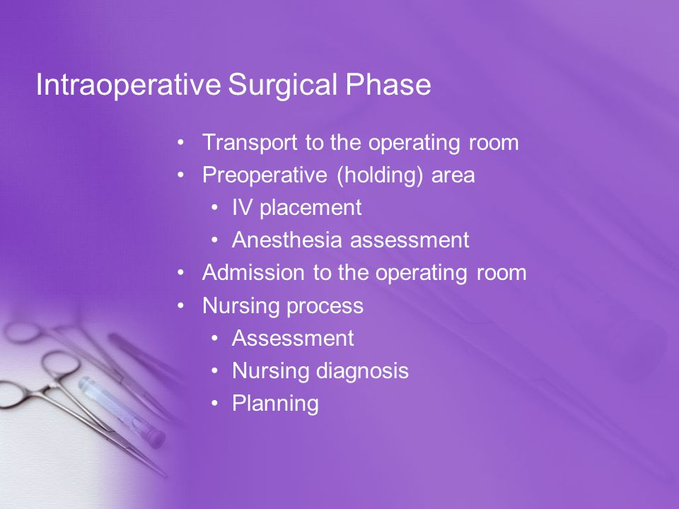 Intraoperative Surgical Phase