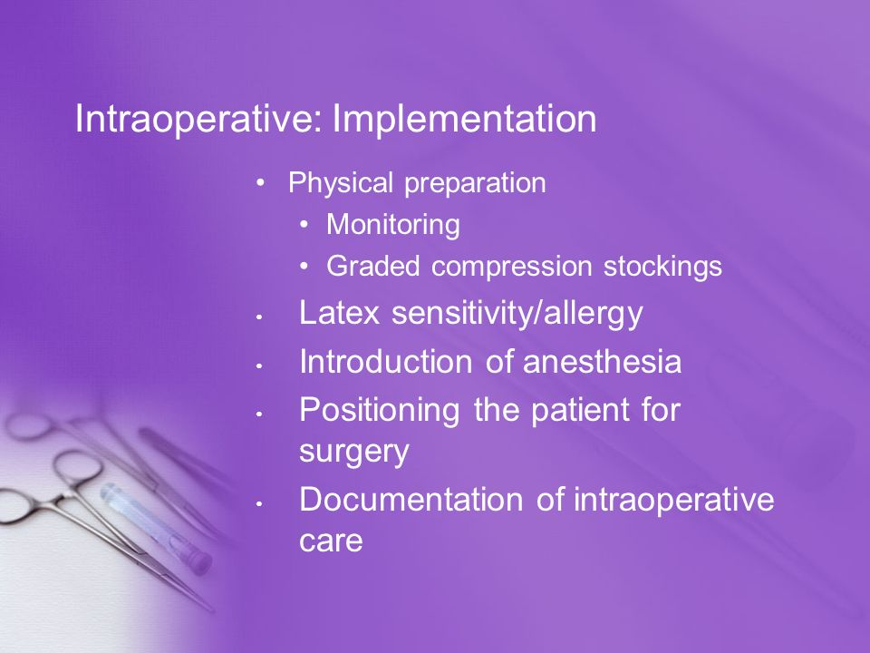 Intraoperative: Implementation