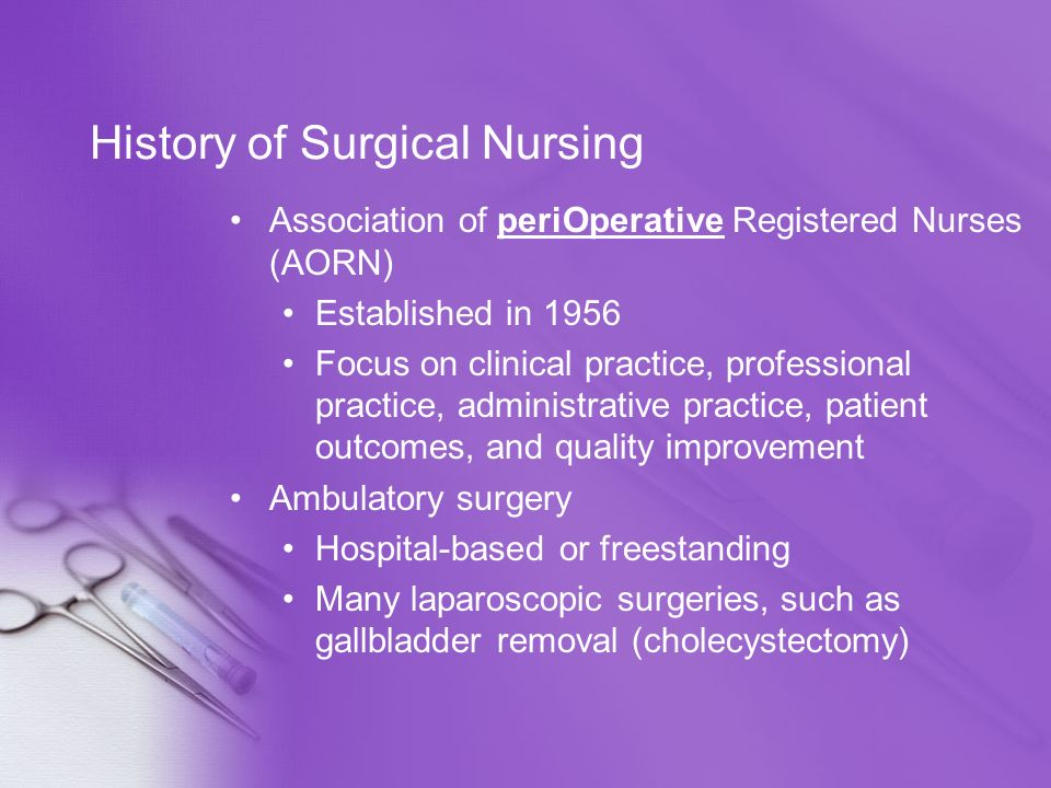 History of Surgical Nursing