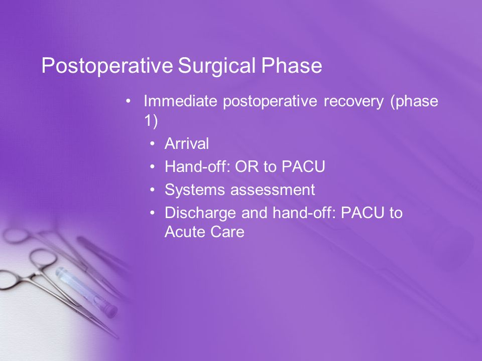 Postoperative Surgical Phase