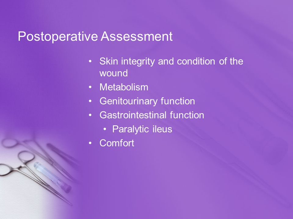 Postoperative Assessment